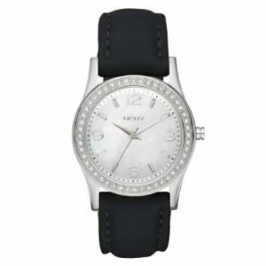 Dkny Women's NY8370 Mother-Of-Pearl Leather Quartz Watch