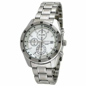 Seiko Men's SNDC41 White Stainless-Steel Quartz Watch