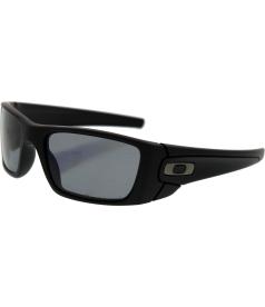 Oakley Men's Polarized Fuel Cell OO9096-05 Black Rectangle Sunglasses