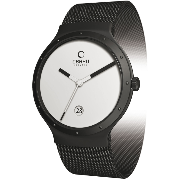 Obaku Women's V119 V119LBWMB White Stainless-Steel Quartz Watch