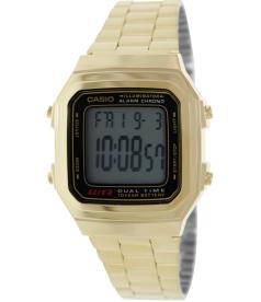 Casio Men's Core A178WGA-1A Digital Stainless-Steel Quartz Watch