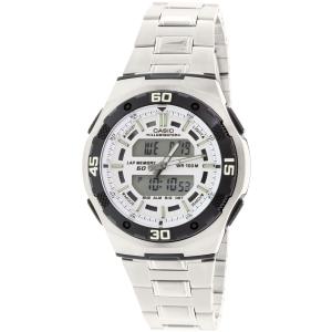 Casio Men's Core AQ164WD-7AV Silver Stainless-Steel Quartz Watch