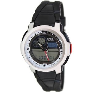 Casio Men's Analog-Digital AQF102W-7BV Black Resin Quartz Watch