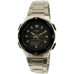 Casio Men's Core AQS800WD-1EV Black Stainless-Steel Quartz Watch