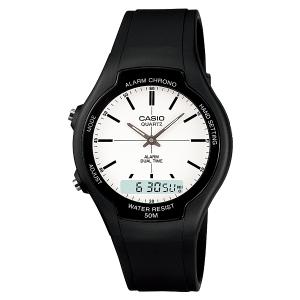 Casio Men's Core AW90H-7EV Black Rubber Quartz Watch