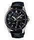 Casio Men's Edifice EF341L-1AV Black Leather Quartz Watch - Main Image Swatch