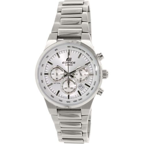 Casio Men's Edifice EF500BP-7AV Silver Stainless-Steel Quartz Watch