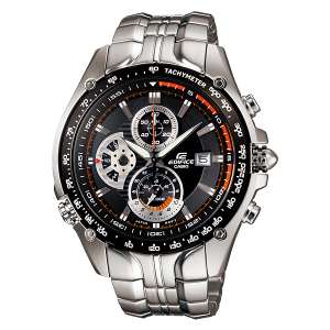 Casio Men's Edifice EF543D-1AV Black Stainless-Steel Quartz Watch