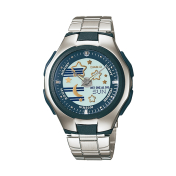 Casio Women's Core LCF10D-2AV Blue Stainless-Steel Quartz Watch