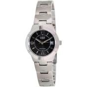 Casio Women's Core LTP1241D-1A Black Stainless-Steel Quartz Watch