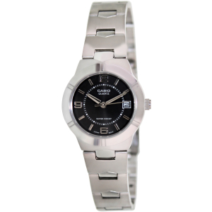 Casio Women's Core LTP1241D-1A Black Stainless-Steel Quartz Watch