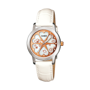 Casio Women's Core LTP1323L-7A White Leather Quartz Watch