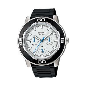Casio Men's Core LTP1327-1E2V Black Resin Quartz Watch