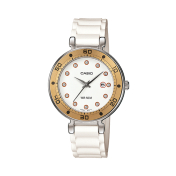 Casio Women's Core LTP1329-9E2V White Resin Quartz Watch