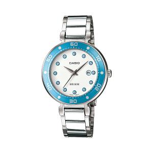 Casio Women's Core LTP1329D-2EV Silver Stainless-Steel Quartz Watch