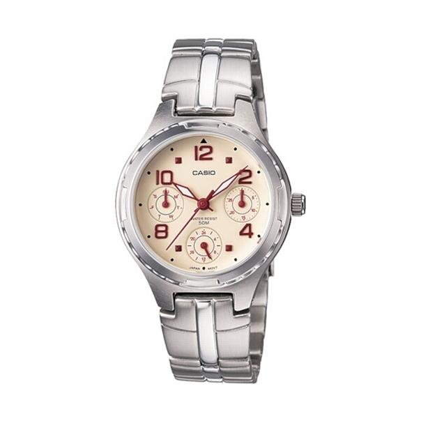 Casio Women's Core LTP2064A-7A2V Beige Stainless-Steel Quartz Watch
