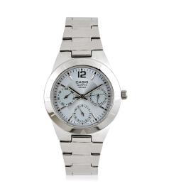 Casio Women's Core LTP2069D-2AV Silver Stainless-Steel Quartz Watch