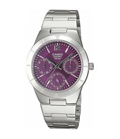 Casio Women's Core LTP2069D-6AV Purple Stainless-Steel Quartz Watch