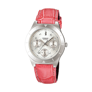 Casio Women's Core LTP2083L-4AV Pink Leather Quartz Watch