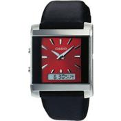 Casio Men's Core MTF110L-4A Red Leather Quartz Watch