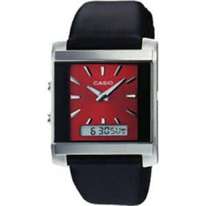 Casio Men's Core MTF110L-4A Black Leather Quartz Watch