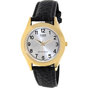 Casio Men's MTP1093Q-7B1 Black Leather Quartz Watch