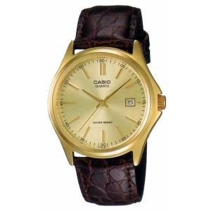 Casio Men's MTP1183Q-9A Gold Leather Quartz Watch