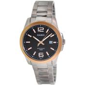 Casio Men's Core MTP1296D-1AV Black Stainless-Steel Quartz Watch