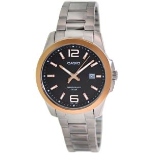 Casio Men's Core MTP1296D-1AV Silver Stainless-Steel Quartz Watch