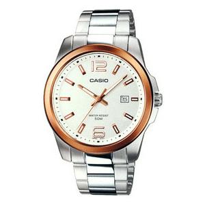Casio Men's Core MTP1296D-7AV Silver Stainless-Steel Quartz Watch