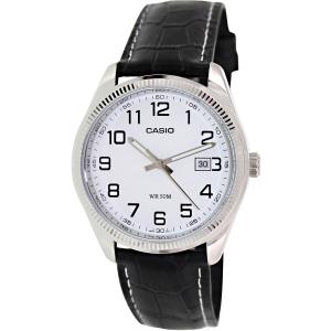 Casio Men's Core MTP1302L-7BV Black Leather Quartz Watch