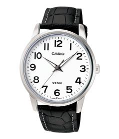 Casio Men's Core MTP1303L-7BV White Leather Quartz Watch