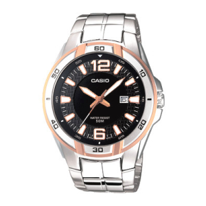 Casio Men's Core MTP1305D-1AV Silver Stainless-Steel Quartz Watch