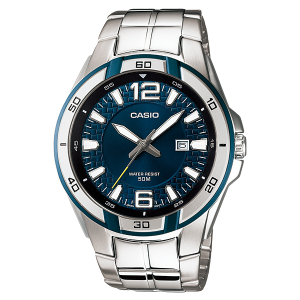 Casio Men's Core MTP1305D-3AV Blue Stainless-Steel Quartz Watch