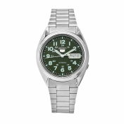 Seiko Men's 5 Automatic SNX807K Green Stainless-Steel Automatic Watch