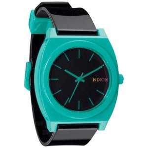Nixon Men's Time Teller A1191060 Teal Polyurethane Analog Quartz Watch