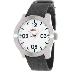 Nixon Men's Corporal A243100 Grey Cloth Analog Quartz Watch