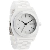 Nixon Men's Time Teller A250100 White Plastic Analog Quartz Watch