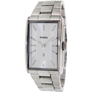 Fossil Men's Dress FS4677 Silver Stainless-Steel Quartz Watch