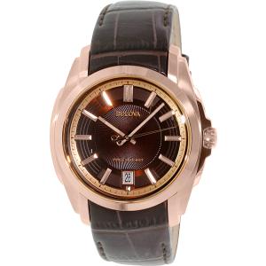 Bulova Men's Precisionist 97B110 Brown Calf Skin Quartz Watch