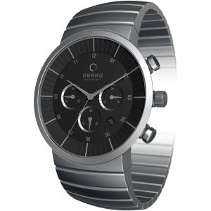 Obaku Men's V131GCBSC Black Stainless-Steel Quartz Watch