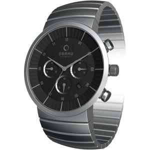 Obaku Men's V131GCBSC Black Stainless-Steel Quartz Watch