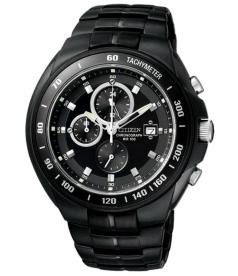 Citizen Men's Chronograph AN4019-52E Black Stainless-Steel Quartz Watch