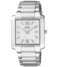Citizen Men's Eco-Drive BJ6431-56A White Stainless-Steel Eco-Drive Watch