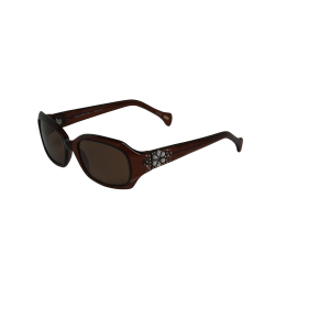 Fossil Women's Gradient Raven PS4001X920 Brown Oval Sunglasses