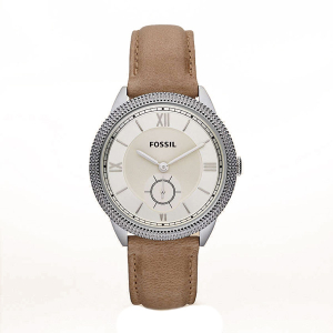 Fossil Women's Sydney ES3066 Beige Calf Skin Analog Quartz Watch