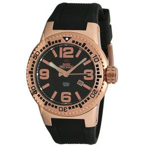 Swiss Precimax Men's Titan SP12029 Black Silicone Swiss Quartz Watch