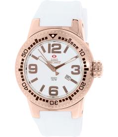 Swiss Precimax Men's Titan SP12031 Silver Silicone Swiss Quartz Watch