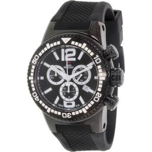 Swiss Precimax Men's Titan Elite SP12035 Black Silicone Swiss Chronograph Watch