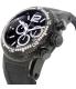 Swiss Precimax Men's Titan Elite SP12035 Black Silicone Swiss Chronograph Watch - Side Image Swatch